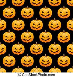 Pumpkins seamless background
