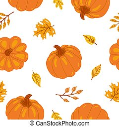 pumpkins., seamless, modèle, thanksgiving