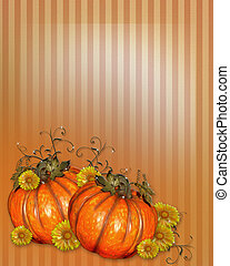 Pumpkins with Fall flowers