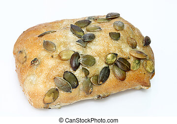 Pumpkinseed bread roll - Bread roll with pumpkinseed on...