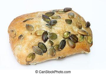 Pumpkinseed bread roll - Bread roll with pumpkinseed on...