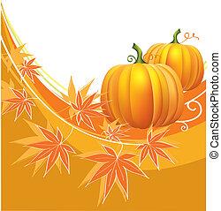 pumpkins.vector, thanksgiving, fond