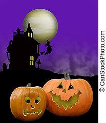 pumpor, halloween, bakgrund
