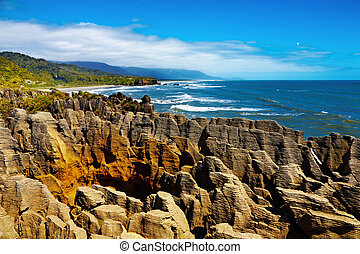 Punakaiki Pancake Rocks, New Zealand - Punakaiki Pancake ...