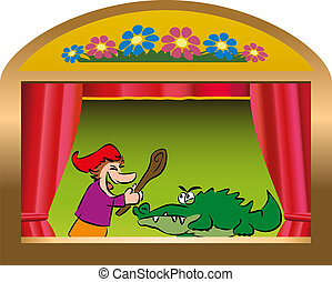 Punch And Judy Booth - Punch and Judy, a traditional, ...