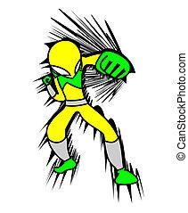 Punch hero - Design of punch hero draw