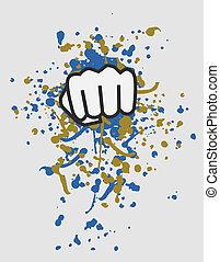 Punch paint - Creative design of punch paint