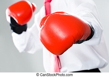 Punch - Symbolic image of punch of a angry business man
