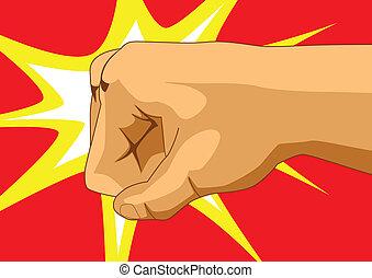 Vector illustration of a fist