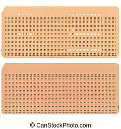 Punched card - Vintage punched card for computer data...