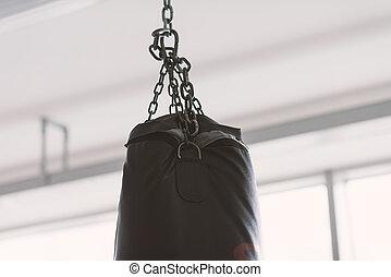 Punching bag at the boxing club