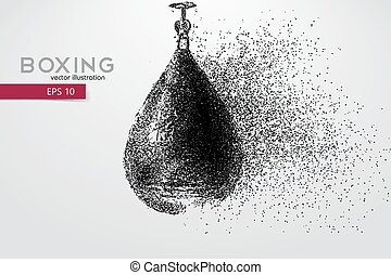 Punching bag from particles.