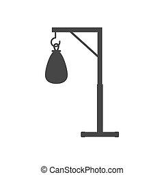 Punching bag silhouette