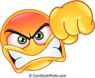 Punching emoticon