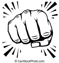 Punching fist hand vector illustration
