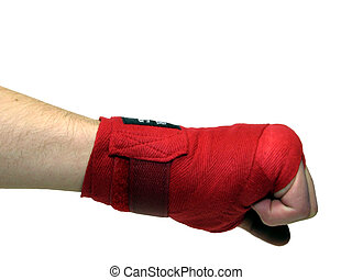 Punching - Hand with handwrap punching