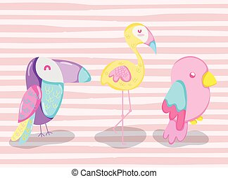 Punchy pastel cute animals cartoons