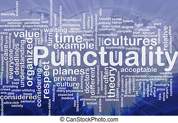 Punctuality background concept - Background concept ...