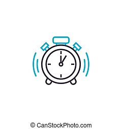 Punctuality vector thin line stroke icon. Punctuality...