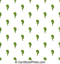 Punctuation mark comma made of green slime - Punctuation...
