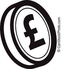 pund, mynt, ikon