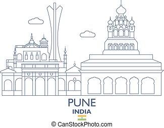 Pune City Skyline, India - Pune Linear City Skyline, India
