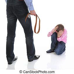 punishes, estrito, seu, pai, filho