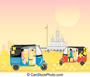punjab traffic - a vector illustration in eps 10 format of...
