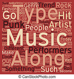 Punk And Rock And Roll Revisited text background wordcloud concept