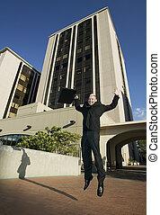 Punk Businessman Jumps