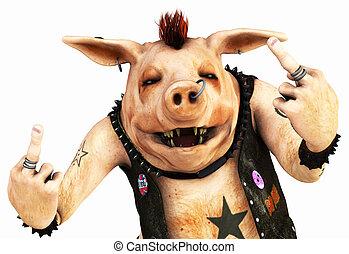 punk, cerdo