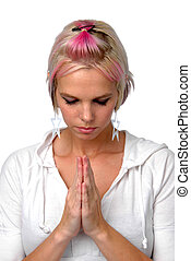 Punk Girl Praying