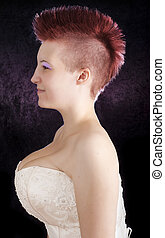 Punk Girl - Red Mohawk
