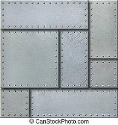 punk, métal, illustration, fond, plaques, vapeur, 3d