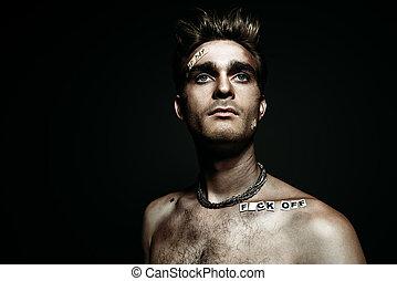 punk man portrait