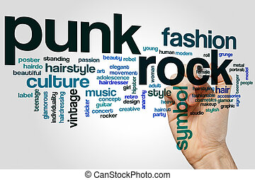 Punk rock word cloud
