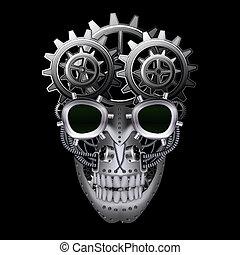 punk, vapor, cráneo