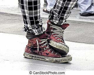 punker, jonge, mode