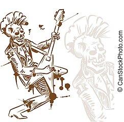 punkrock, gitarrist