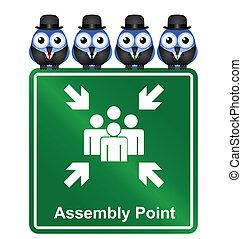 punkt, forsamling, tegn