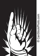 punkt, hånd