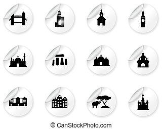 punkt orientacyjny, majchry, ikony