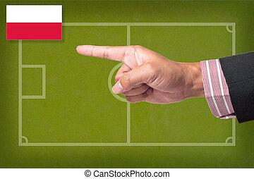 punkt, tafel, strategie, spiel, hand, fußball