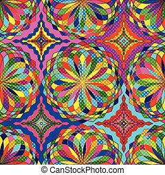punkte, kugeln, bunte, muster, polka, seamless, mosaik, klein, blumen, lichtdurchlässig