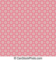 punkte, muster, seamless, vektor, (tiling)., blumen-