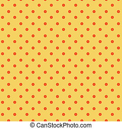 punkte, orange, polka, seamless, gelber