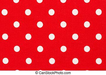 punkte, pattern., polka, hintergrund, weiß rot