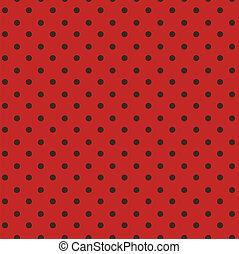 punkte, polka, schwarz, seamless, rotes