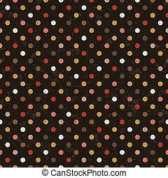 punkte, polka, seamless, hintergrund