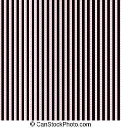 punkte, rosa, &, streifen, schwarz, weißes